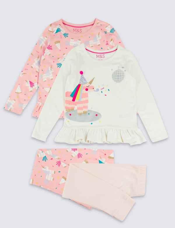 cc0df103ed 2 Pack Pure Cotton Pyjamas (1-7 Years)