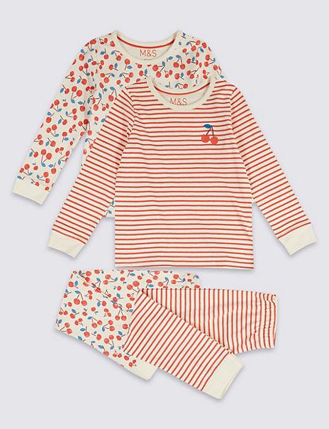 2 Pack Cherry Pyjamas (1-7 Years)
