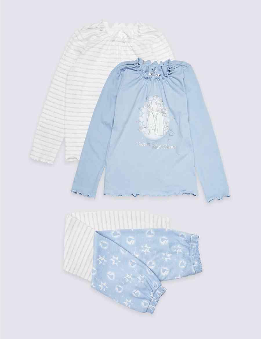 7e9ac72a0 2 Pack Disney Frozen™ Pyjamas (2-10 Years)