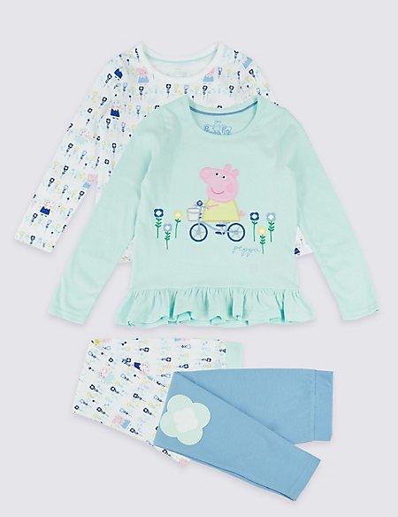 2 Pack Peppa Pig™ Pyjamas (1-7 Years)