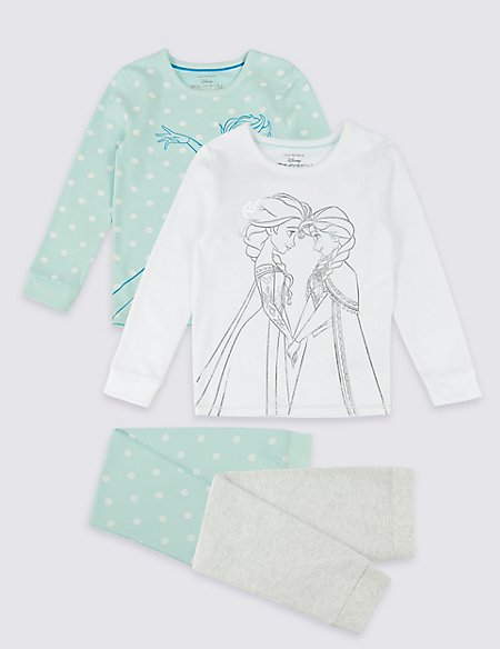 2 Pack Disney Frozen™ Pyjamas with Stretch (2-10 Years)