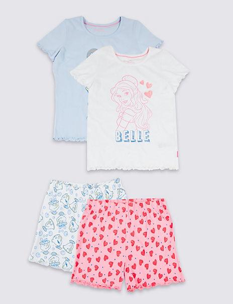 2 Pack Disney Princess™ Short Pyjamas (2-10 Years)