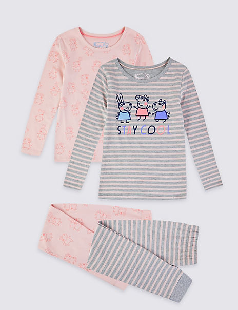 2 Pack Peppa Pig™ Pyjama Set (1-7 Years)