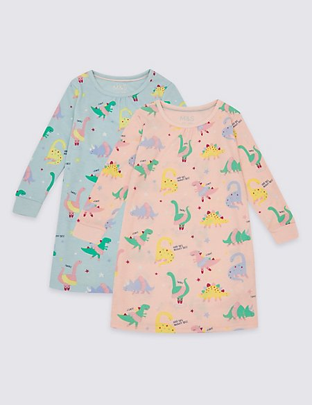 2 Pack All Over Print Nightdress (1-7 Years)