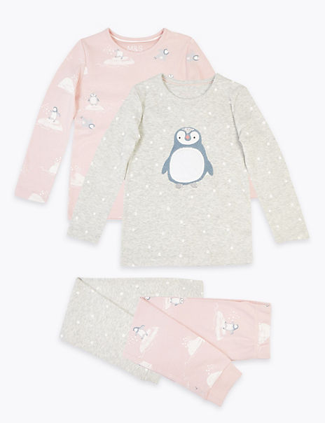 2 Pack Penguin Print Pyjama Set (1-7 Years)