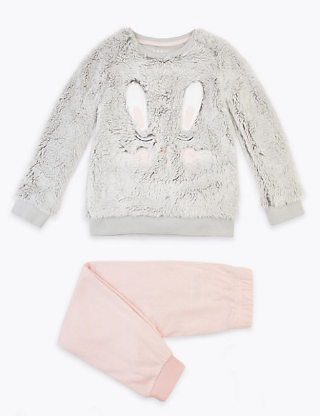 Fleece 3D Bunny Ears Pyjama Set (1-7 Years)