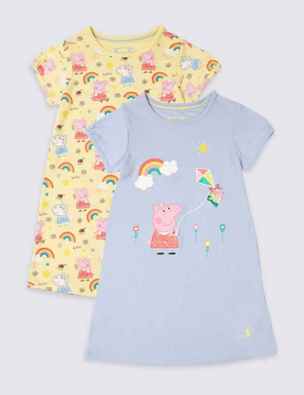 02c4e7b941 2 Pack Peppa Pig™ Nightdress (1-7 Years)