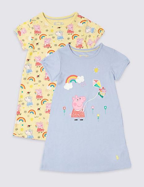 2 Pack Peppa Pig™ Nightdress (1-7 Years)