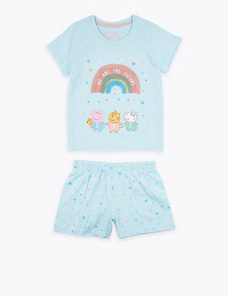 Peppa Pig™ Rainbow Print Short Pyjamas (1-7 Years)