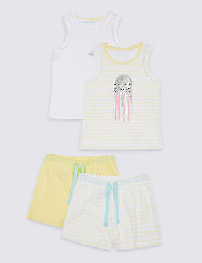 2 Pack Short Pyjamas (3-16 Years)