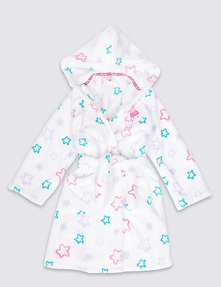 Peppa Pig™ Long Sleeve Dressing Gown (1-7 Years)   M&S