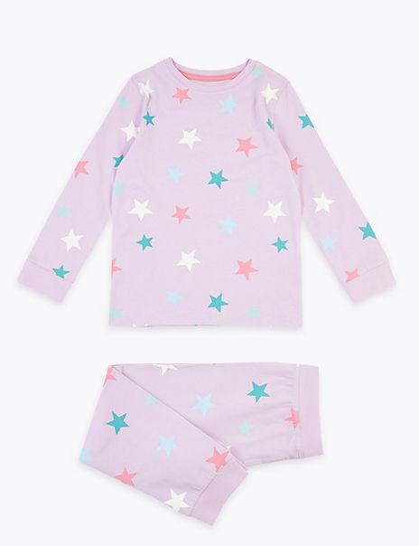 Cotton Rich Star Patterned Pyjama Set (1-7 Years)