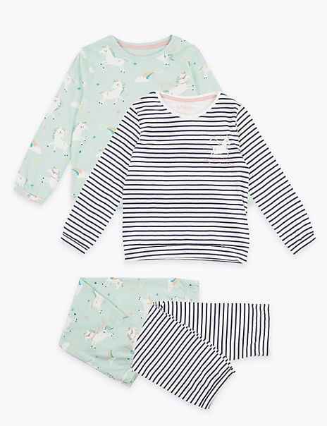 2 Pack Cotton Unicorn Pyjama Sets (1-7 Years)