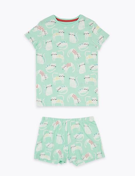 Animal Print Short Pyjama Set (1-7 Years)