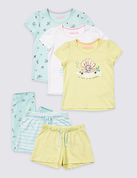 3 Pack Printed Pyjamas (1-7 Years)