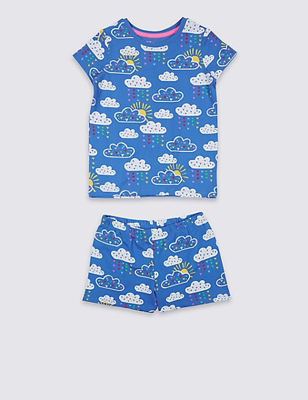 Printed Pyjamas with Stretch (1-7 Years)