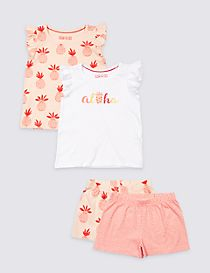 2 Pack Pure Cotton Pyjamas (1-7 Years)