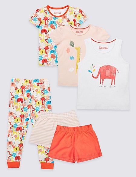 3 Pack Printed Pyjamas (1-7 Years)