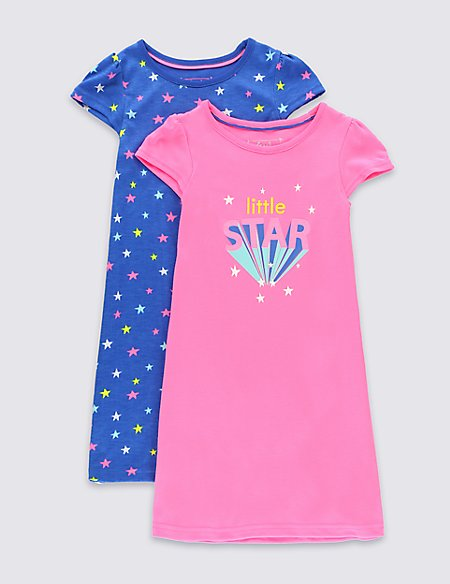 2 Pack Little Star Nightdresses (1-8 years)