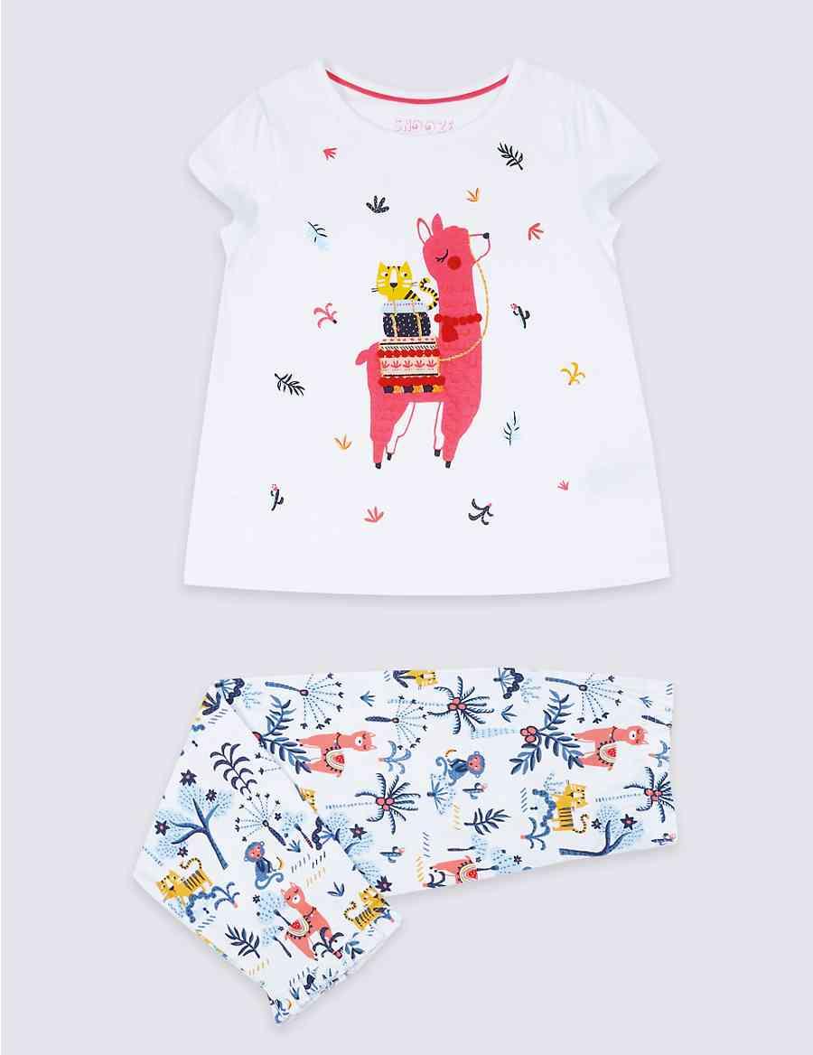Pure Cotton Llama Pyjamas (1-7 Years)  c3d996888