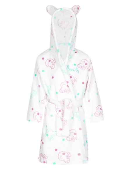 Anti Bobble Peppa Pig™ Dressing Gown with Belt (1-7 Years)   M&S