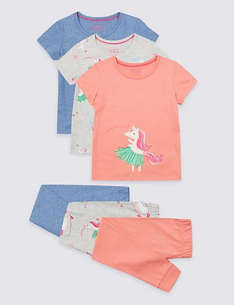3 Pack Hulacorn Pyjamas (1-7 Years)