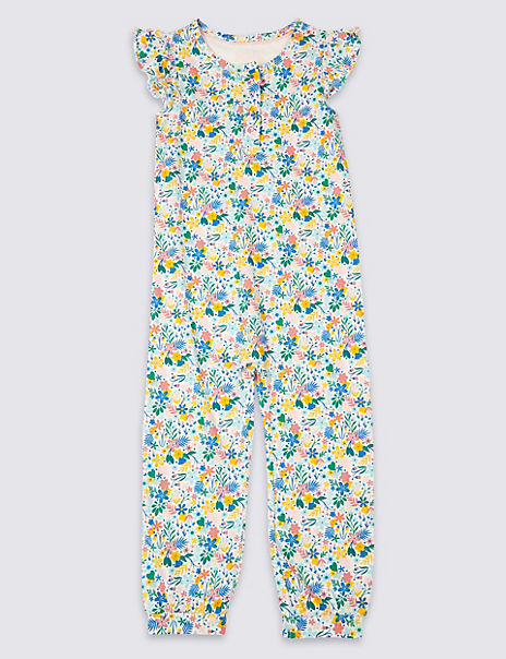 Pure Cotton Romper Pyjamas (1-7 Years)