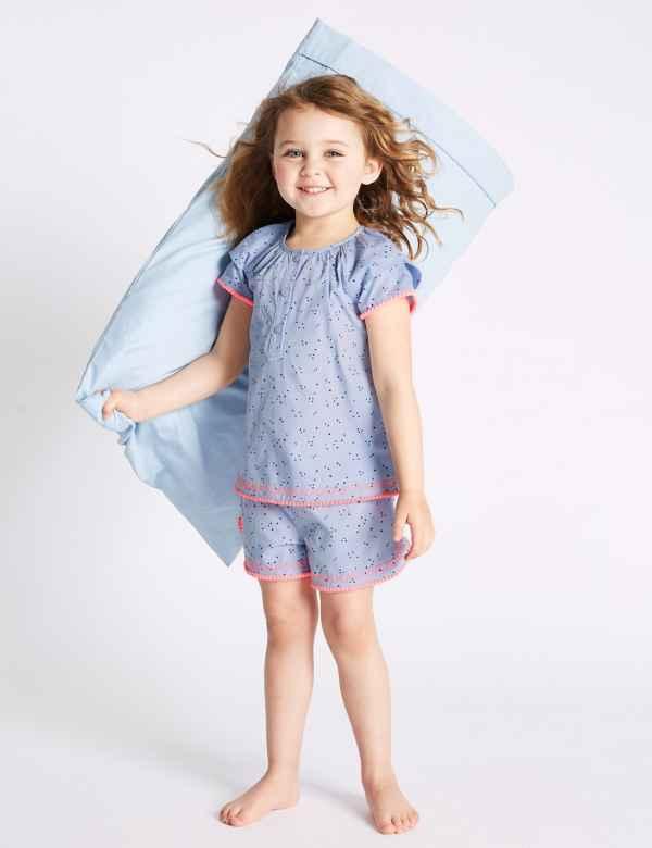 f20e99aa4d278 Pure Cotton Woven Short Pyjamas (1-7 Years)