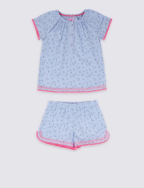 Pure Cotton Woven Short Pyjamas (1-7 Years)