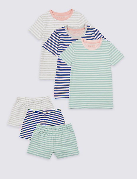 3 Pack Short Pyjamas with Stretch (1-7 Years)