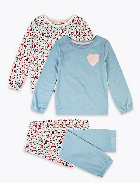 2 Pack Floral Print Pyjama Set (1-7 Years)