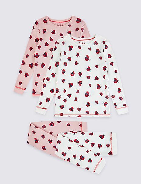 2 Pack Ladybird Pyjama Set (1-7 Years)