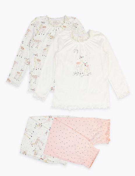 2 Pack Cotton Deer Print Pyjama Set (1-7 Years)