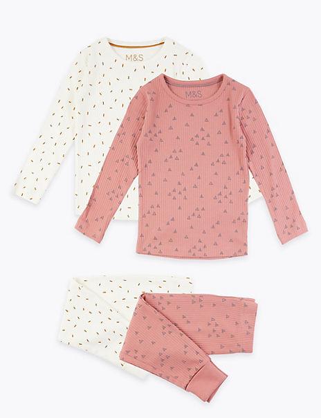 2 Pack Geometric Print Pyjama Set (1-7 Years)