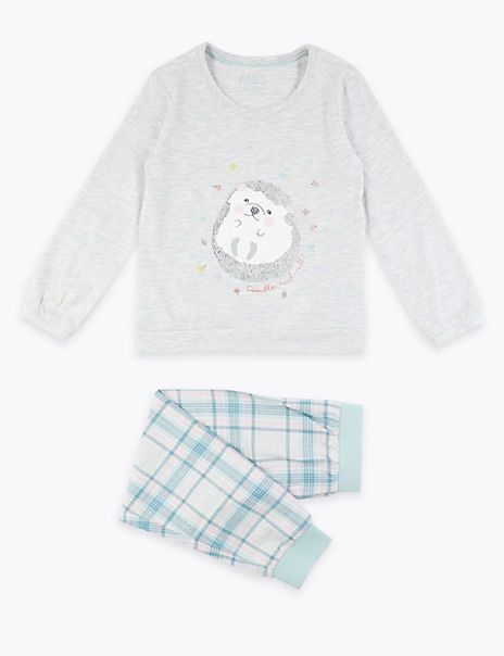 Hedgehog Print Pyjama Set (1-7 Years)