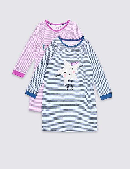 2 Pack Twinkle Striped Pyjama Top (1-8 Years)
