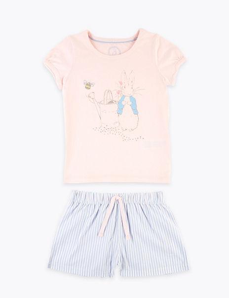 Pure Cotton Peter Rabbit™ Short Pyjama Set (1-7 Yrs)