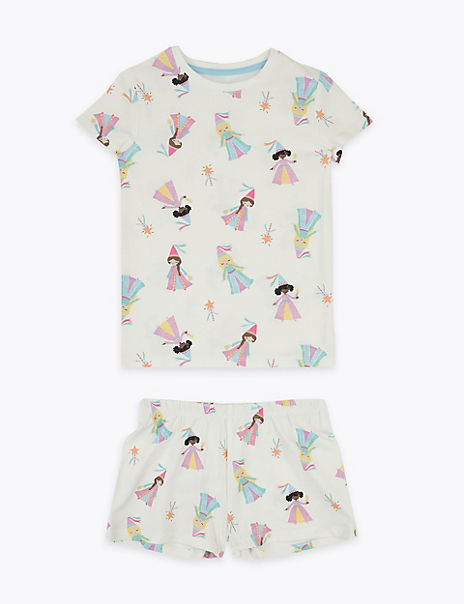 Cotton Rich Princess Short Pyjama Set (1-7 Years)