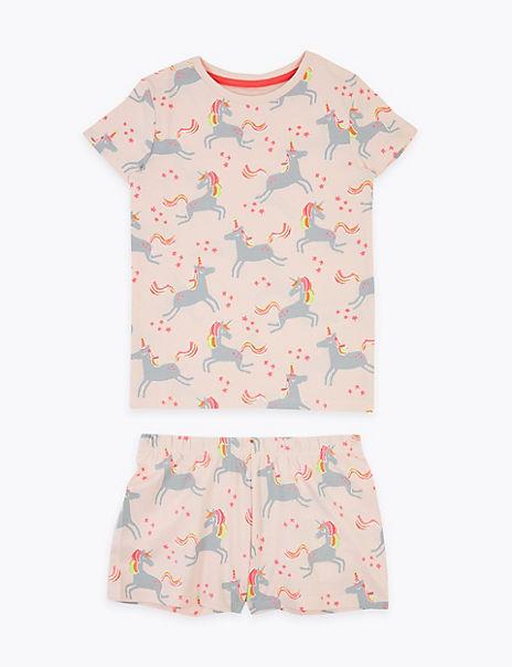 Cotton Rich Unicorn Short Pyjama Set (1-7 Years)
