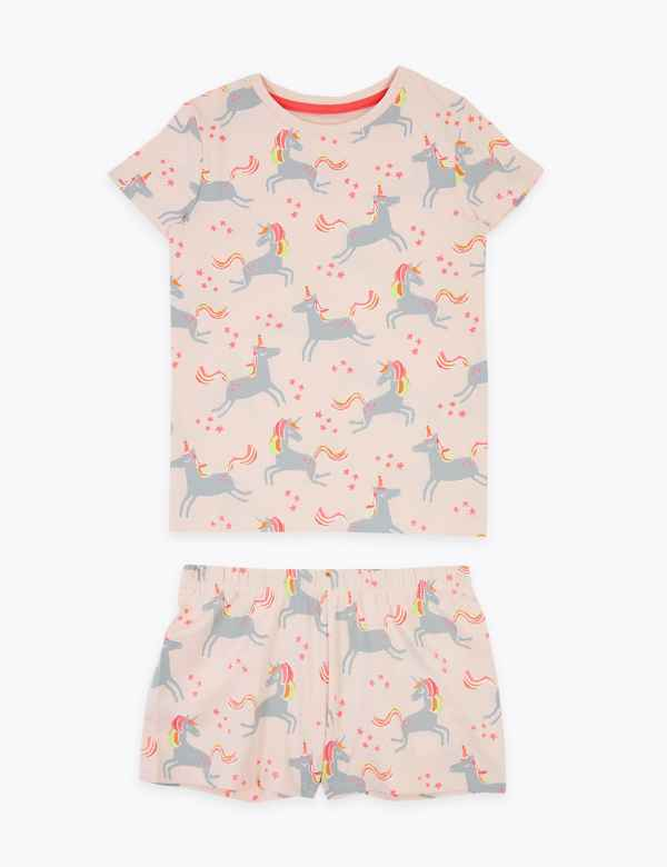 3PJ is cute two Baby girl pyjamas with matching T-shirt pink piggy ages one