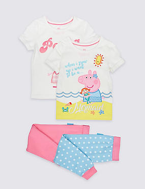 Peppa Pig™ 2 Pack Pyjamas (1-7 Years)