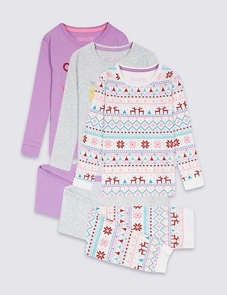 3 Pack Cotton Rich Pyjamas (9 Months - 8 Years)