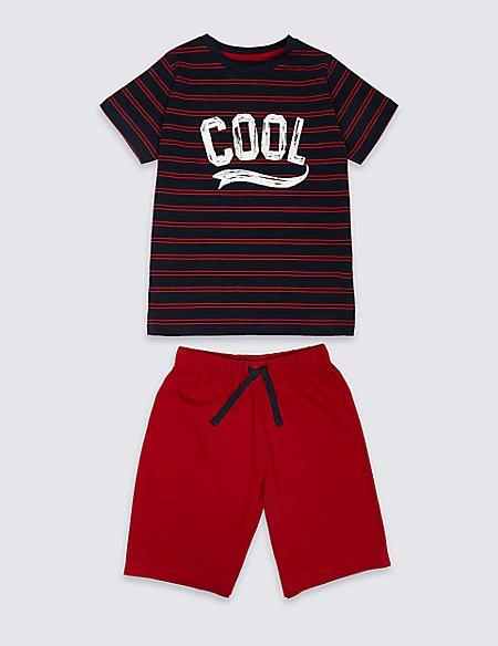 Pure Cotton Striped Pyjamas (1-16 Years)