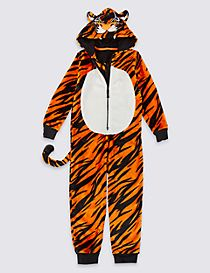 Tiger Fleece Onesie (1-16 Years)