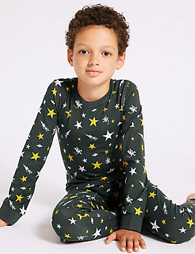 Cotton Pyjamas with Stretch (3-16 Years)