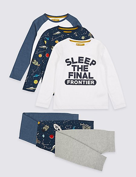 3 Pack Final Frontier Pyjamas (3-16 Years)