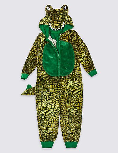Crocodile Hooded Onesie (1-16 Years)