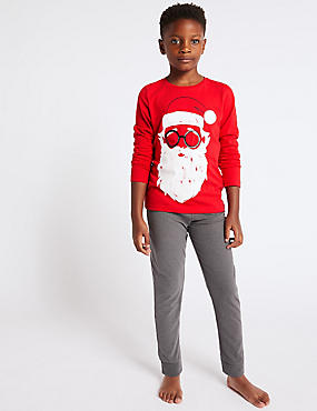Cotton Rich Santa Pyjamas (3-16 Years)