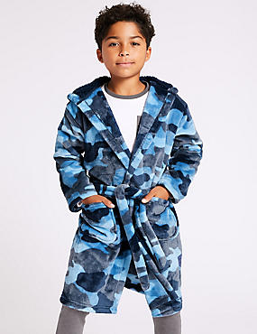 Blue Hooded Kids Pyjamas   Dressing Gowns dpsrtxl  ae859efdf2e4