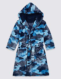Camouflage Hooded Dressing Gown (1-16 Years)